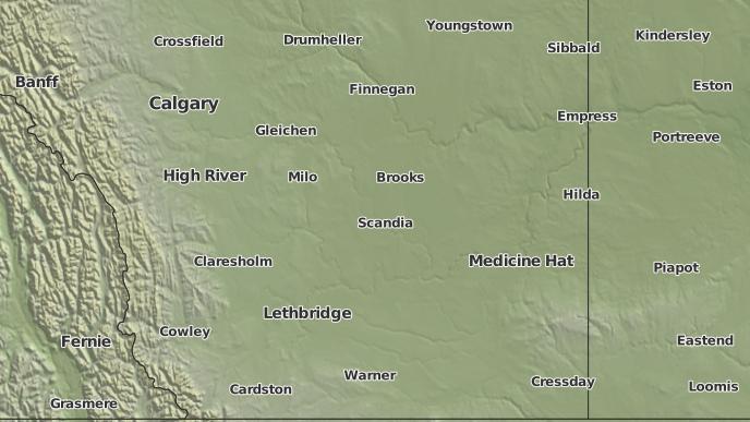 for Rainier, Alberta