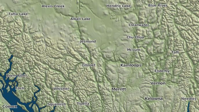 pour Hihium Lake 6B, Colombie-Britannique