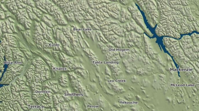 pour North Tacla Lake 7A, Colombie-Britannique