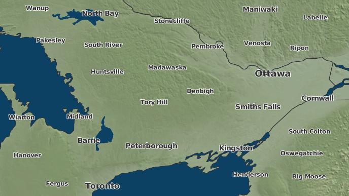 pour Anstruther Lake, Ontario