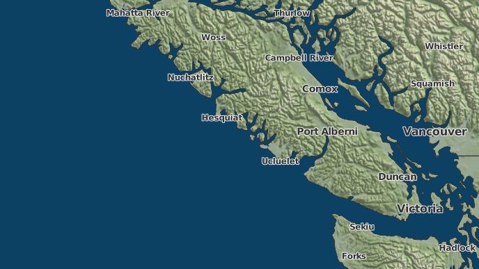 for Clayoquot, British Columbia