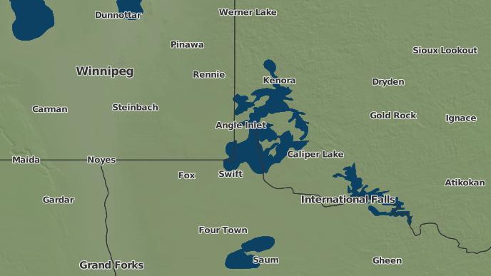 pour Northwest Point, Manitoba