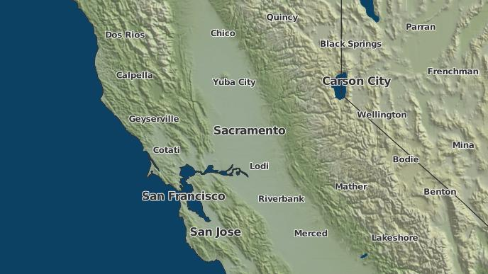 Placerville California Map.3 Day Severe Weather Outlook Placerville California The Weather