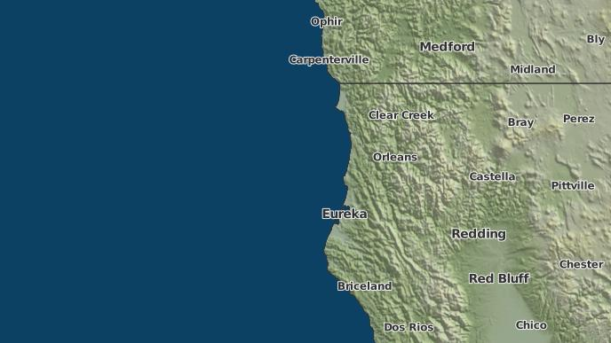 Orick California Map.3 Day Severe Weather Outlook Orick California The Weather Network