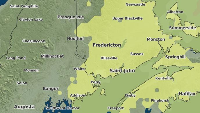 pour Lower Burton, Nouveau-Brunswick