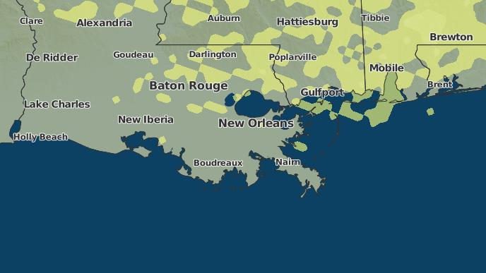 for Bayou Gauche, Louisiana