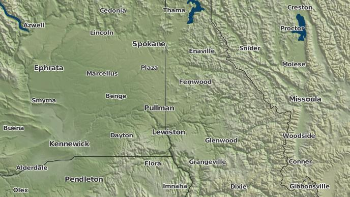 Potlatch Idaho Map.3 Day Severe Weather Outlook Potlatch Idaho The Weather Network