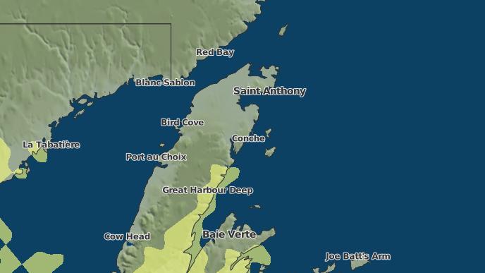 for Conche, Newfoundland and Labrador