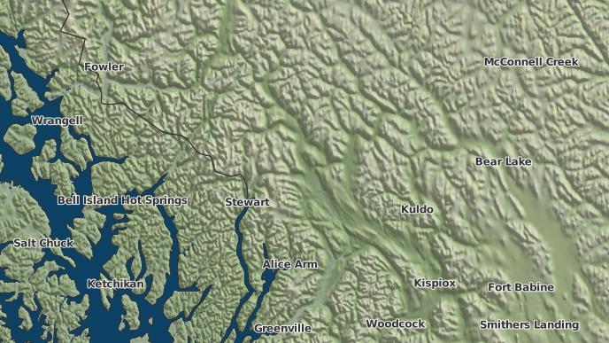 for Meziadin Junction, British Columbia