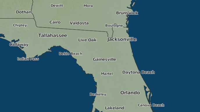Starke Florida Map.3 Day Severe Weather Outlook Starke Florida The Weather Network