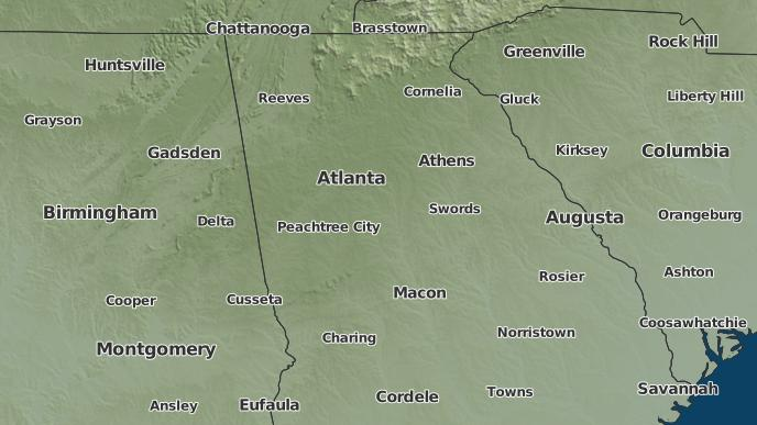 3-Day Severe Weather Outlook: Atlanta, Georgia - The Weather Network