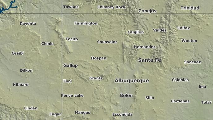 for Pueblo Pintado, New Mexico