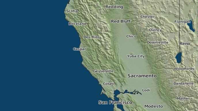 3Day Severe Weather Outlook Comptche California The Weather Network