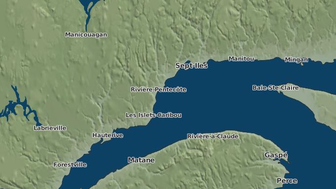 for Rivière-Pentecôte, Quebec