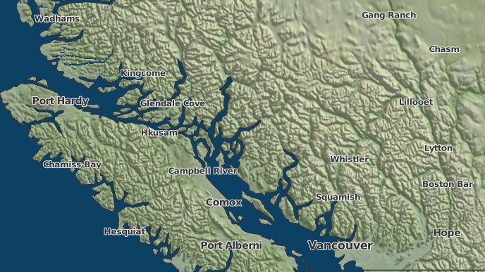 for Cortes Island, British Columbia