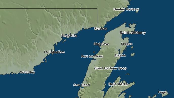 pour Hawke's Bay, Terre-Neuve-et-Labrador