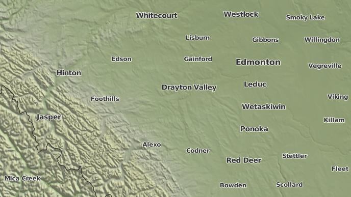 pour Alder Flats, Alberta