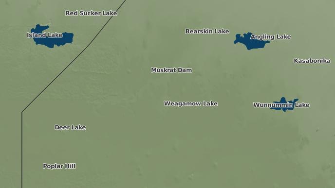 pour Weagamow Lake, Ontario