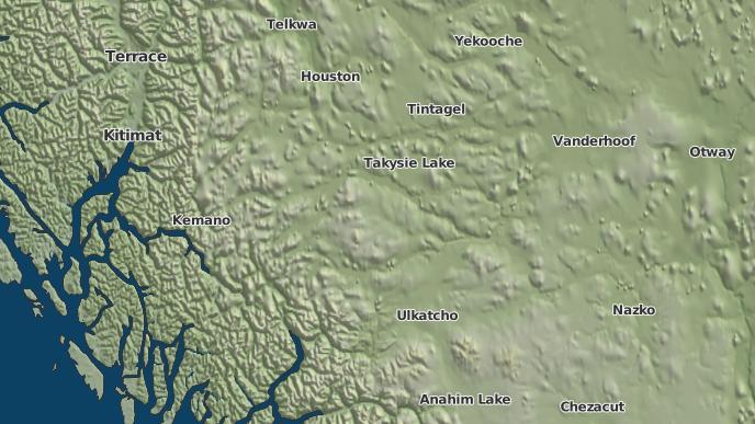 for Cheslatta, British Columbia