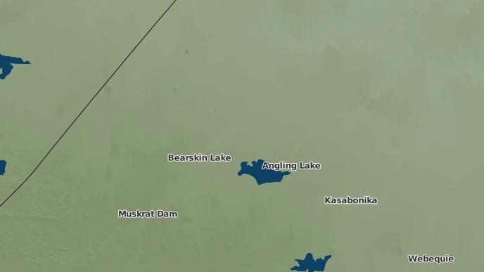 pour Angling Lake, Ontario