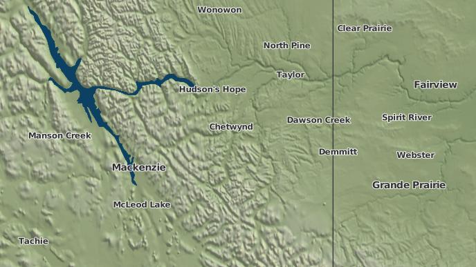 pour East Moberly Lake 169, Colombie-Britannique