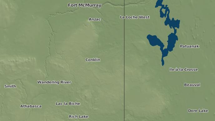 pour Winefred Lake 194B, Alberta