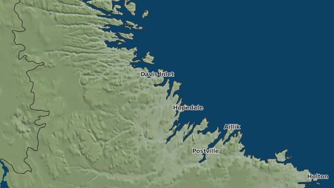 for Hopedale, Newfoundland and Labrador