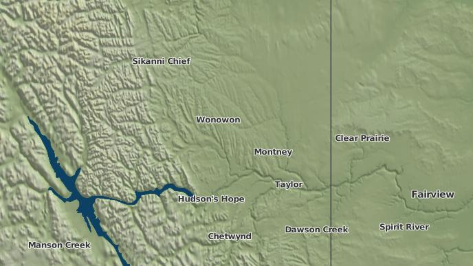 pour Halfway River 168, Colombie-Britannique