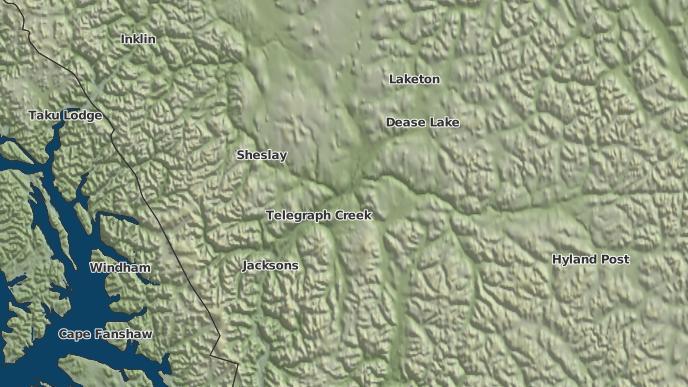 for Tahltan 1, British Columbia