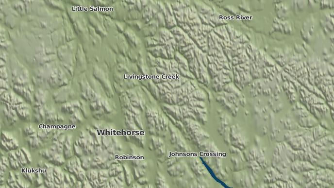 for Teslin Crossing, Yukon