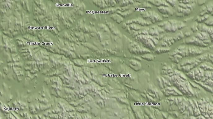 pour Fort Selkirk, Yukon