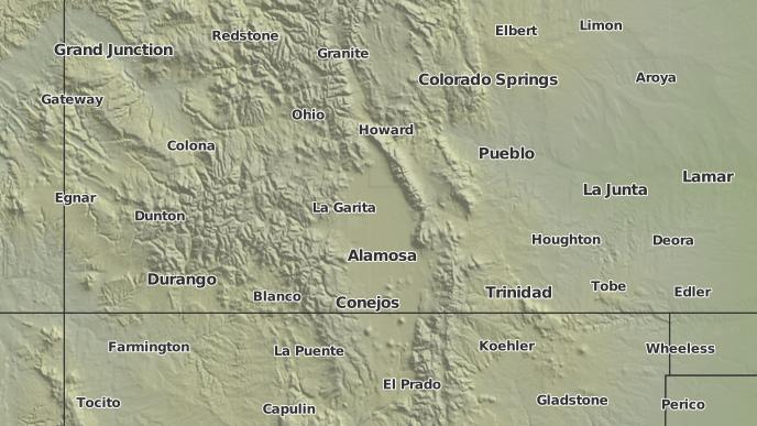 Gardner Colorado Map.3 Day Severe Weather Outlook Gardner Colorado The Weather Network