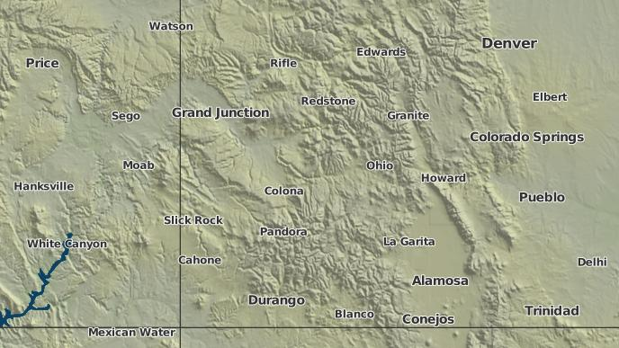 Ridgeway Colorado Map.3 Day Severe Weather Outlook Ridgeway Colorado The Weather Network