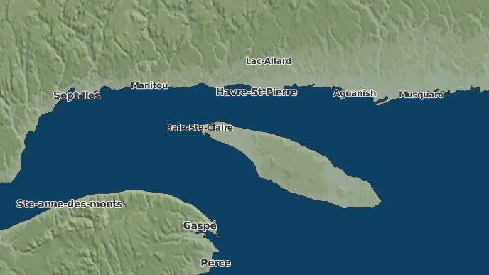 for L'Île-d'Anticosti, Quebec