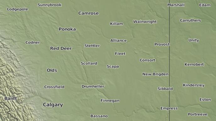 pour Coronation, Alberta