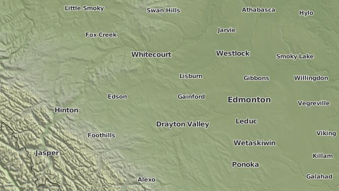 pour Round Valley, Alberta
