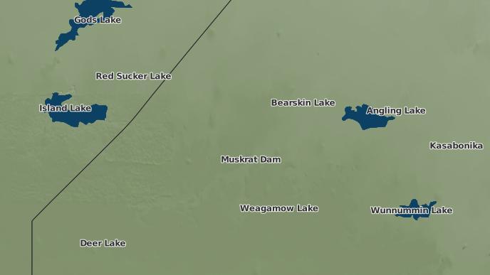 pour Muskrat Dam, Ontario