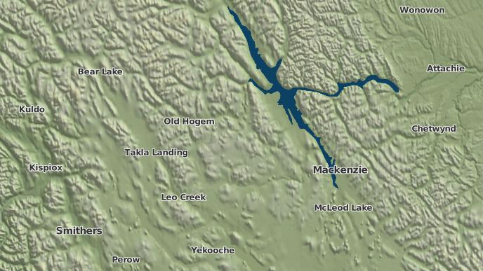 for North Tacla Lake 12, British Columbia