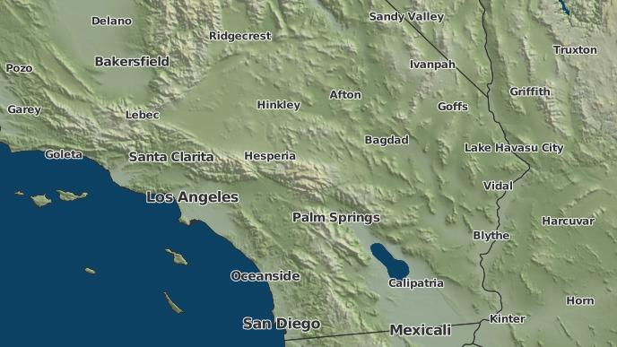 Pioneertown California Map.3 Day Severe Weather Outlook Pioneertown California The Weather