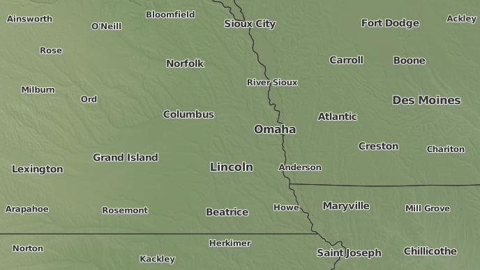 Arlington Weather Map.3 Day Severe Weather Outlook Arlington Nebraska The Weather Network