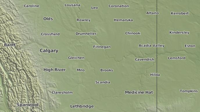 pour Wardlow, Alberta