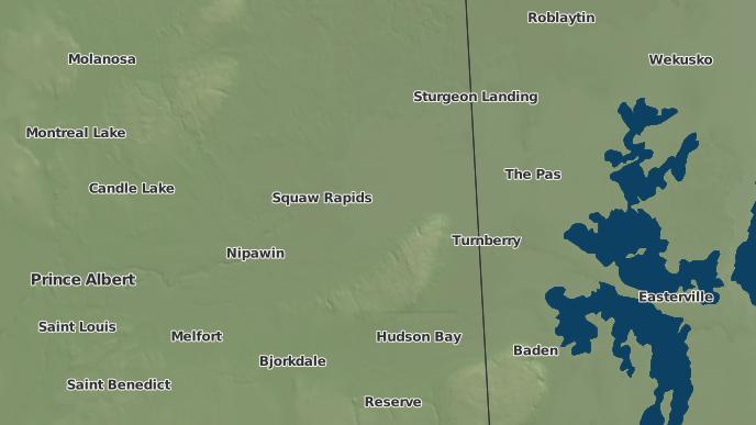 pour Pakwaw Lake, Saskatchewan