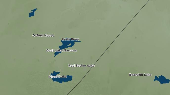 pour God's River 86A, Manitoba