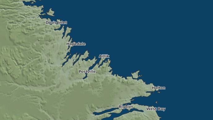 for Aillik, Newfoundland and Labrador