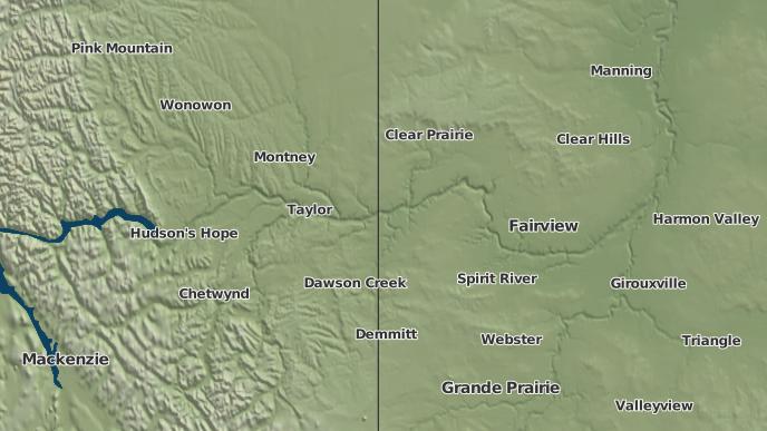 pour Cherry Point, Alberta