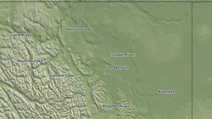 pour Fort Nelson, Colombie-Britannique