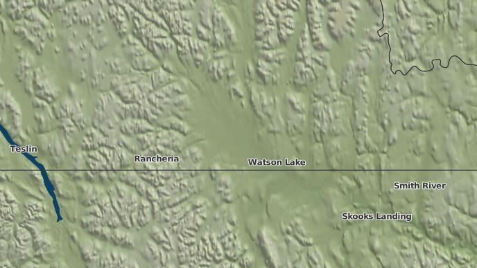 pour Upper Liard, Yukon