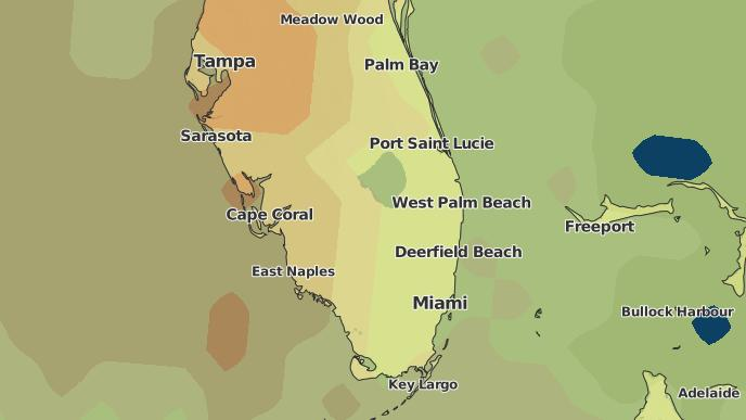 Map Of Florida Showing Coral Springs.3 Day Severe Weather Outlook Coral Springs Florida The Weather