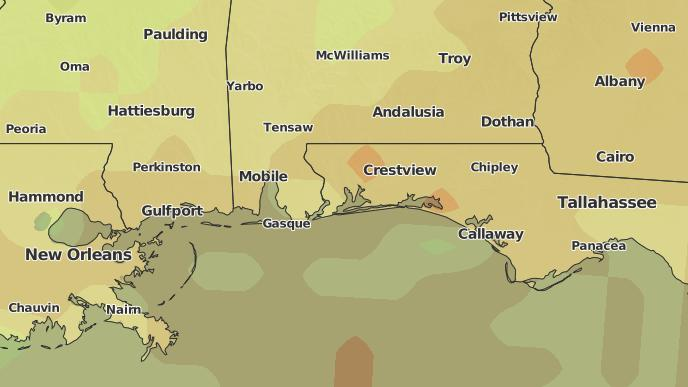 Valparaiso Florida Map.3 Day Severe Weather Outlook Valparaiso Florida The Weather Network