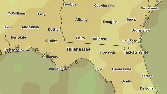 Map Of Quitman Georgia.3 Day Severe Weather Outlook Quitman Georgia The Weather